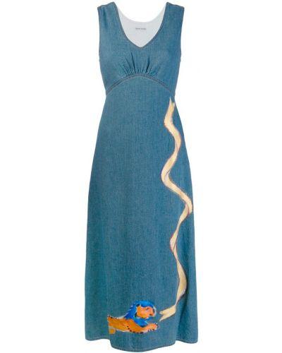 Джинсовое платье ампир с вырезом Tsumori Chisato