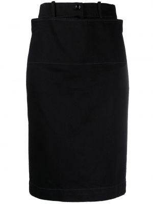 Spódnica bawełniana - czarna Lemaire