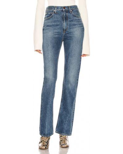 Niebieskie jeansy z wysokim stanem vintage Agolde
