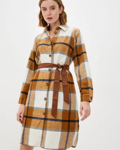 Платье рубашка - коричневое Sa.l.ko