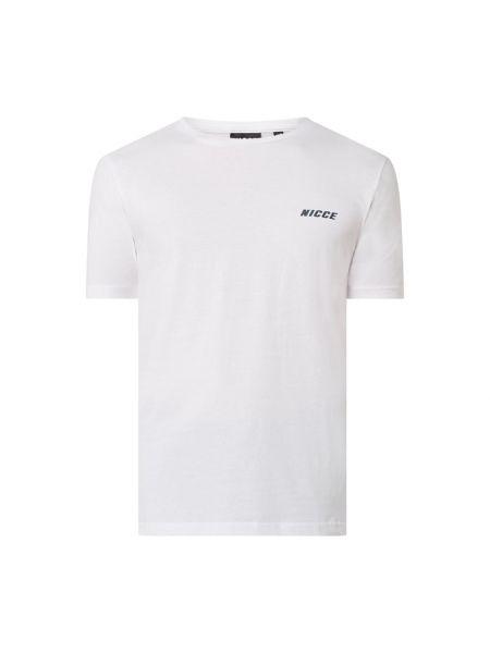 Biały t-shirt bawełniany Nicce