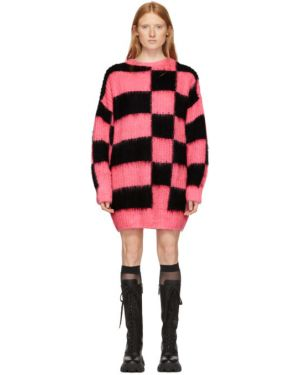 Платье макси розовое вязаное Msgm