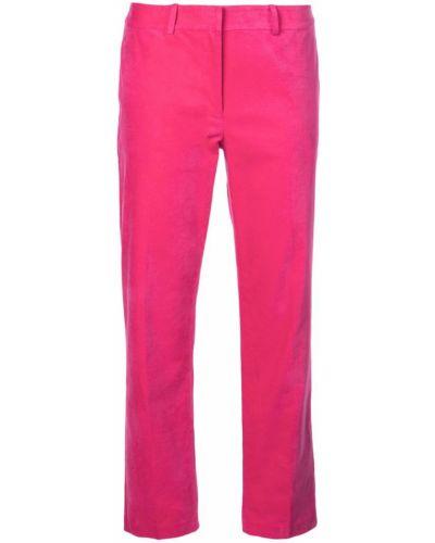 Розовые укороченные брюки с воротником с поясом Robert Rodriguez Studio