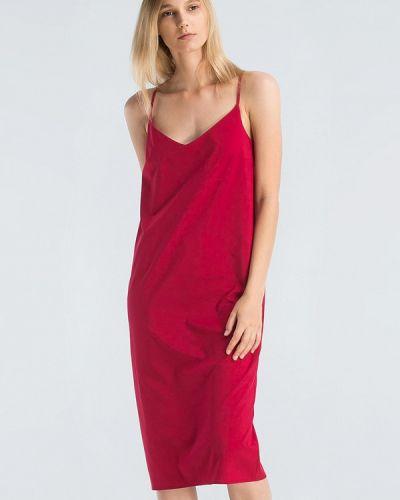 Платье миди весеннее красный Grass