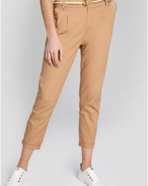 Зауженные брюки чиносы со складками на молнии Ostin