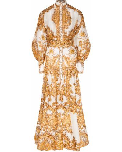 Платье миди на пуговицах восточное Zimmermann