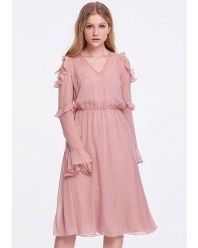 Розовое платье весеннее Musthave