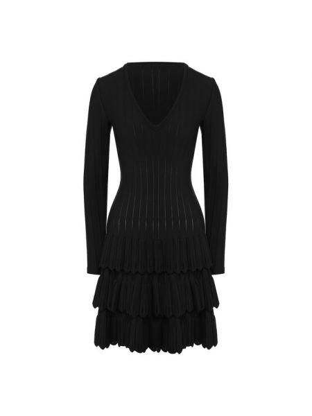 Платье с V-образным вырезом приталенное Alaïa