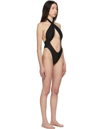 Czarny strój kąpielowy Miaou
