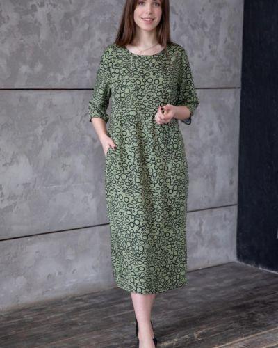 Зеленое платье из штапеля инсантрик