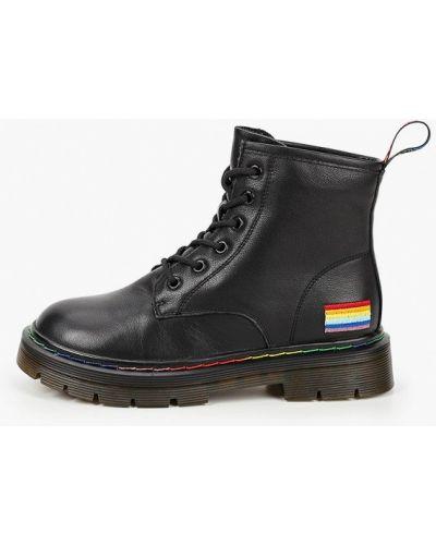 Черные кожаные ботинки Sprincway