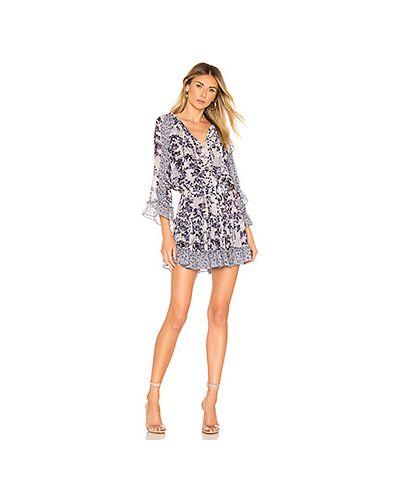 Платье с поясом с прозрачными рукавами на резинке Misa Los Angeles