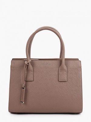 Коричневая кожаная сумка Thomas Munz
