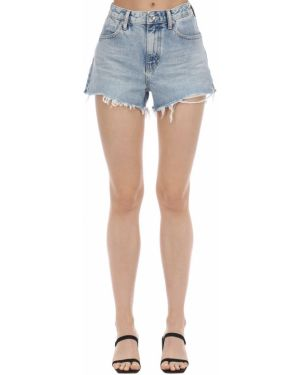 Джинсовые шорты с завышенной талией с карманами Alexander Wang
