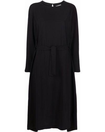 Черное платье макси с длинными рукавами Henrik Vibskov