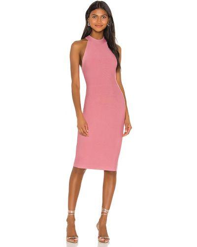 Różowa sukienka koktajlowa z nylonu Bcbgmaxazria