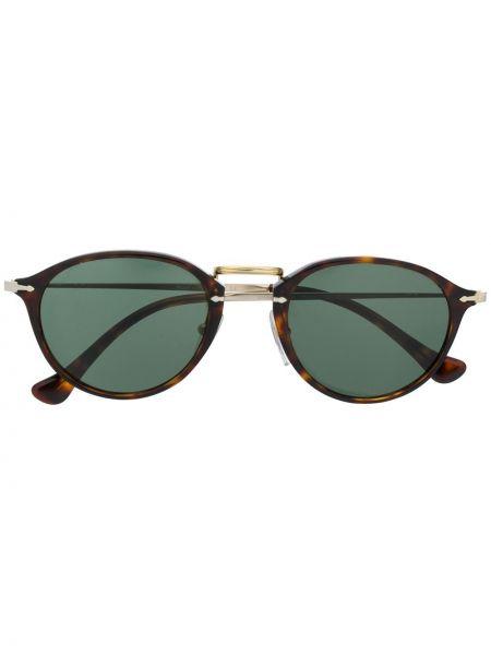 Zielona złota oprawka do okularów Persol