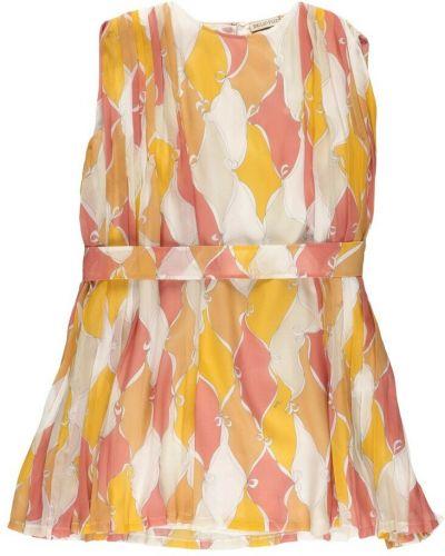 Pomarańczowa sukienka z wiskozy Emilio Pucci