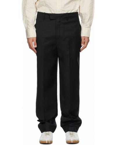 Satynowe białe spodnie z paskiem Ader Error