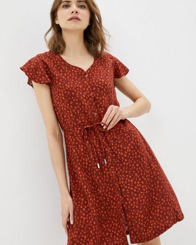 Красное платье-рубашка Luhta