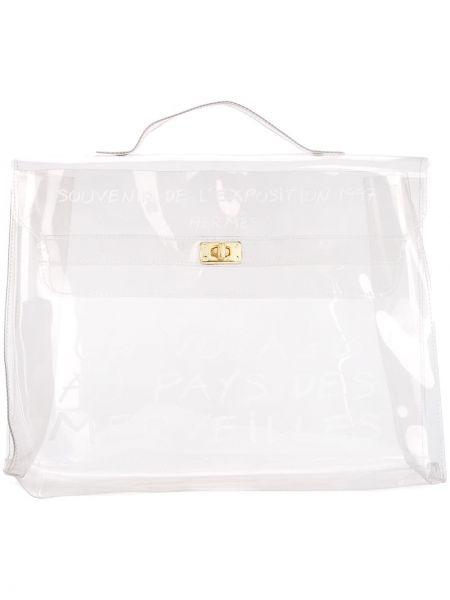 Пляжная сумка прозрачная винтажная Hermes