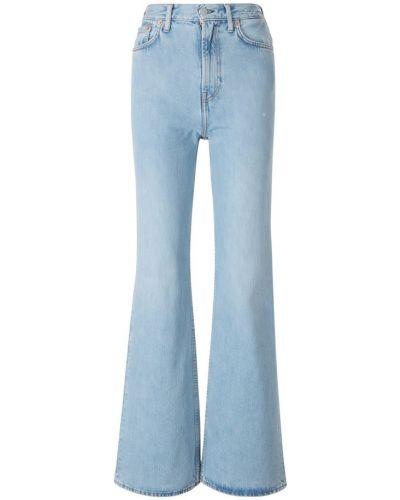 Niebieskie jeansy skorzane Acne Studios