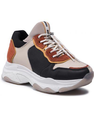 Buty sportowe skorzane - czarne Bronx