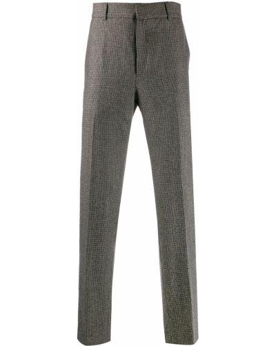 Коричневые прямые брюки с поясом новогодние Harmony Paris