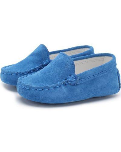Синие пинетки Tods