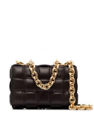 Кожаная черная сумка на цепочке Bottega Veneta