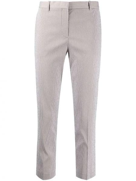Укороченные брюки стрейч в полоску Theory