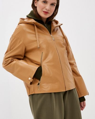 Коричневая кожаная куртка снежная королева