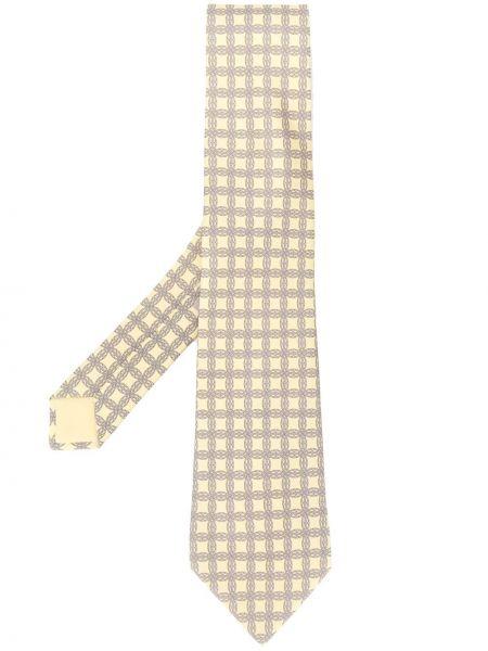 Желтый галстук Hermès Pre-owned