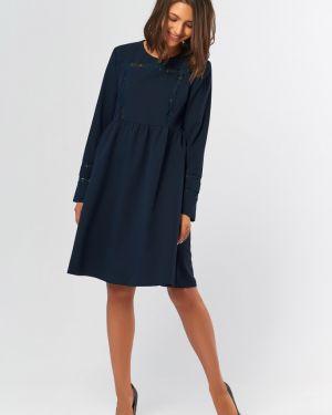 Платье с поясом со вставками со складками Fly