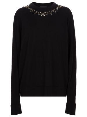 Sweter wełniany - czarny Givenchy