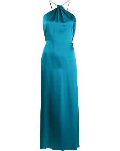 Открытое платье с открытой спиной без рукавов металлическое Amen.