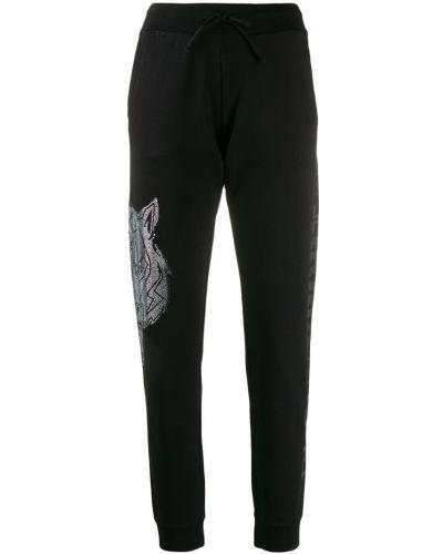 Черные спортивные брюки с манжетами Plein Sport