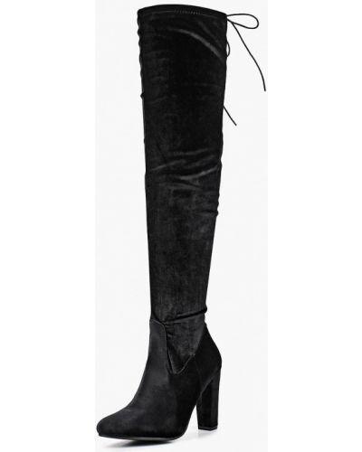 Черные ботфорты Ideal Shoes