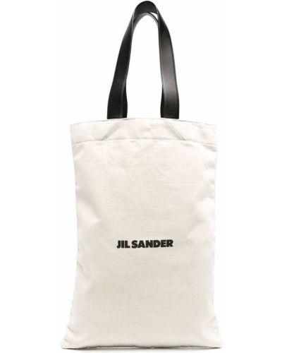 Bawełna skórzany torba kosmetyczna z kieszeniami Jil Sander