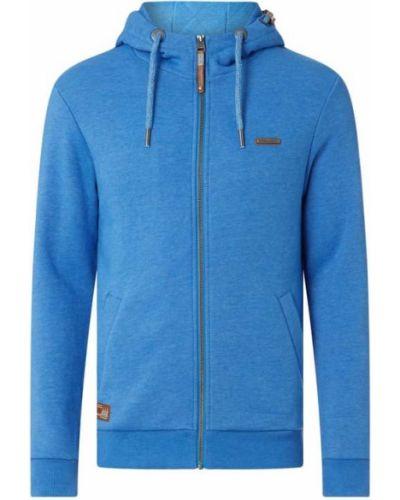Niebieska bluza rozpinana z kapturem Ragwear