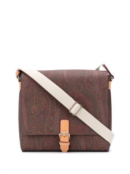 Skórzany torba z kieszeniami Etro
