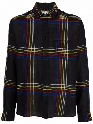 Koszula wełniana - czarna Saint Laurent