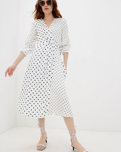 Белое платье с запахом Pennyblack