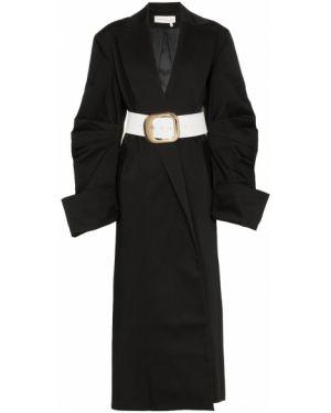 Черное нейлоновое пальто Aleksandre Akhalkatsishvili