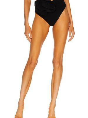 Czarny bikini z nylonu z haftem Magda Butrym