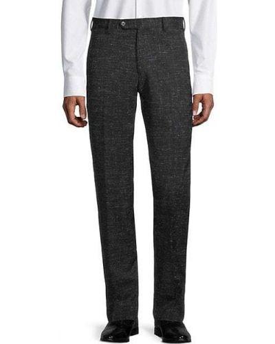 Черные брюки с карманами с манжетами Zanella