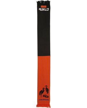 Pomarańczowy szalik wełniany Heron Preston