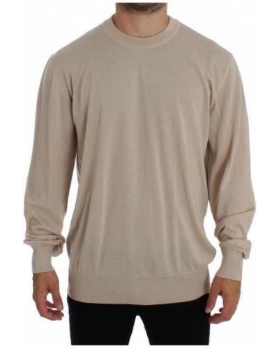 Beżowy z kaszmiru sweter Dolce And Gabbana