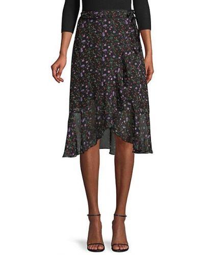Черная юбка макси в цветочный принт с подкладкой J.o.a.