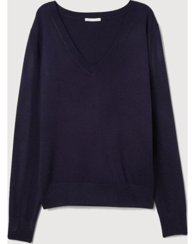 Синий пуловер H&m